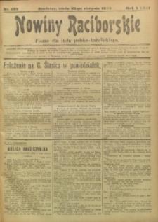 Nowiny Raciborskie, 1920, R. 32, nr 102