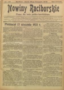 Nowiny Raciborskie, 1920, R. 32, nr 142