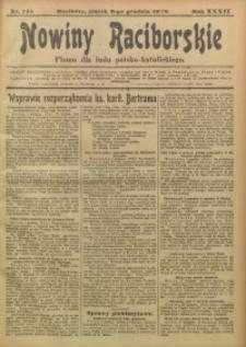 Nowiny Raciborskie, 1920, R. 32, nr 145