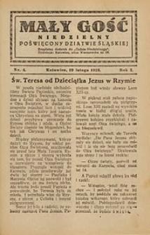 Mały Gość Niedzielny, 1928, R. 2, nr 4