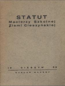 Statut Macierzy Szkolnej Ziemi Cieszyńskiej , 1938