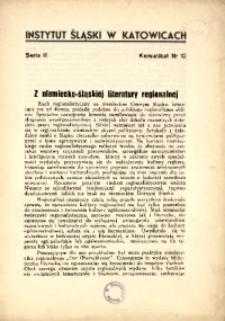 Z niemiecko-śląskiej literatury regionalnej