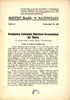Następstwa testamentu Bolesława Krzywoustego dla Śląska