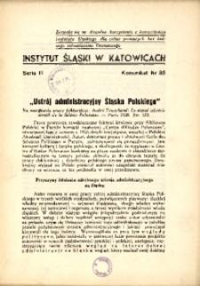 """""""Ustrój administracyjny Śląska Polskiego"""""""