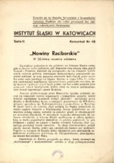 """""""Nowiny Raciborskie"""". W 50-letnią rocznicę założenia"""