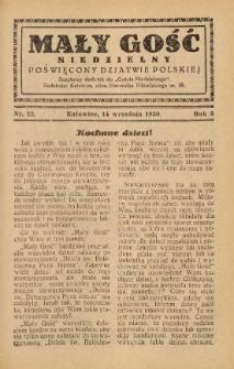 Mały Gość Niedzielny, 1930, R. 4, nr 22