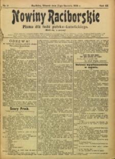 Nowiny Raciborskie, 1908, R. 20, nr 9