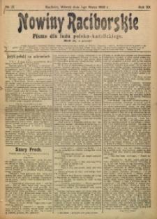 Nowiny Raciborskie, 1908, R. 20, nr 27