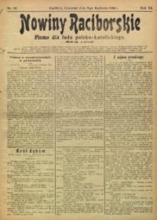 Nowiny Raciborskie, 1908, R. 20, nr 43
