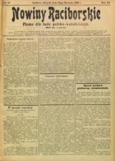 Nowiny Raciborskie, 1908, R. 20, nr 97