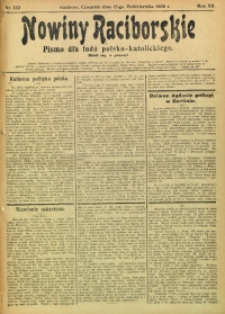 Nowiny Raciborskie, 1908, R. 20, nr 122