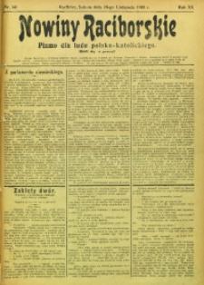 Nowiny Raciborskie, 1908, R. 20, nr 141