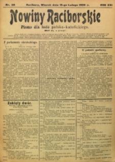 Nowiny Raciborskie, 1909, R. 21, nr 20