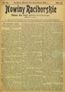 Nowiny Raciborskie, 1909, R. 21, nr 29