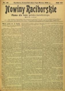 Nowiny Raciborskie, 1909, R. 21, nr 30