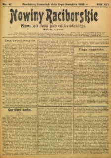 Nowiny Raciborskie, 1909, R. 21, nr 42
