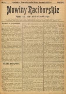 Nowiny Raciborskie, 1909, R. 21, nr 97