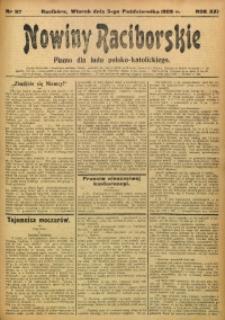 Nowiny Raciborskie, 1909, R. 21, nr 117
