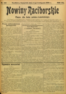 Nowiny Raciborskie, 1909, R. 21, nr 130