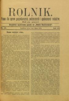 Rolnik, 1909, R. 16, nr 27