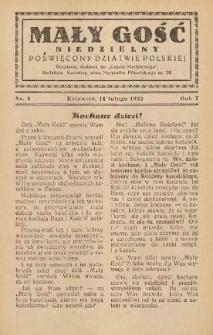 Mały Gość Niedzielny, 1932, R. 7, nr 4