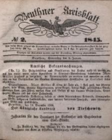 Beuthner Kreisblatt, 1845, No 2