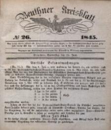 Beuthner Kreisblatt, 1845, No 26