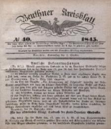 Beuthner Kreisblatt, 1845, No 40