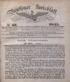 Beuthner Kreisblatt, 1845, No 42