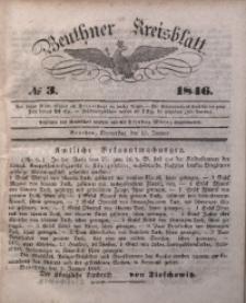 Beuthner Kreisblatt, 1846, No 3