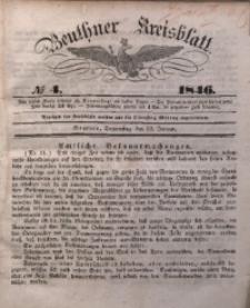 Beuthner Kreisblatt, 1846, No 4