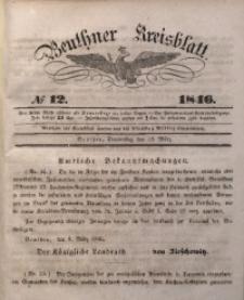 Beuthner Kreisblatt, 1846, No 12