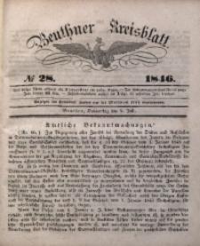 Beuthner Kreisblatt, 1846, No 28
