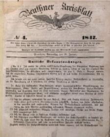 Beuthner Kreisblatt, 1847, No 4
