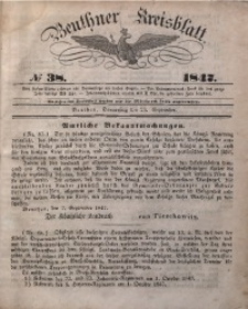 Beuthner Kreisblatt, 1847, No 38