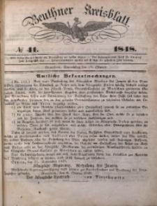 Beuthner Kreisblatt, 1848, No 41