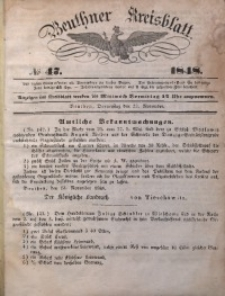 Beuthner Kreisblatt, 1848, No 47