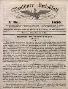 Beuthner Kreisblatt, 1850, No 18