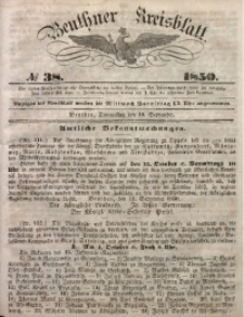 Beuthner Kreisblatt, 1850, No 38