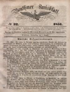 Beuthner Kreisblatt, 1851, No 32