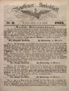 Beuthner Kreisblatt, 1853, Nr. 2