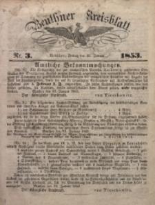 Beuthner Kreisblatt, 1853, Nr. 3