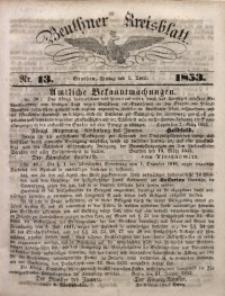 Beuthner Kreisblatt, 1853, Nr. 13
