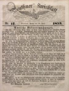 Beuthner Kreisblatt, 1853, Nr. 17