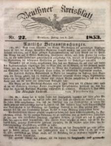 Beuthner Kreisblatt, 1853, Nr. 27