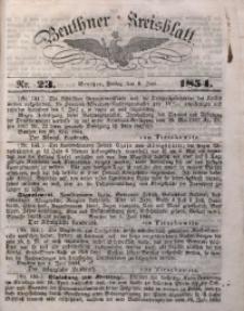 Beuthner Kreisblatt, 1854, Nr. 23