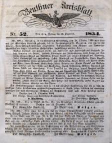 Beuthner Kreisblatt, 1854, Nr. 52