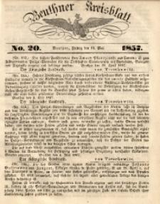 Beuthner Kreisblatt, 1857, No. 20