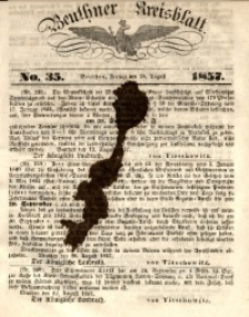 Beuthner Kreisblatt, 1857, No. 35