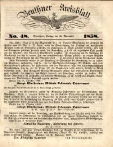 Beuthner Kreisblatt, 1858, No. 48